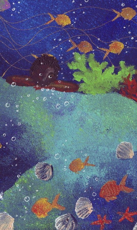 море мальчика стоковое фото