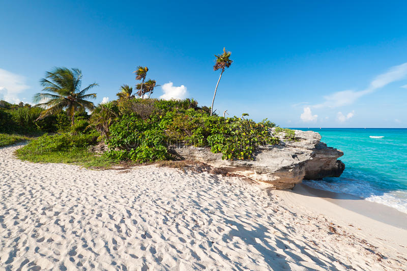 море Мексики пляжа карибское стоковое фото