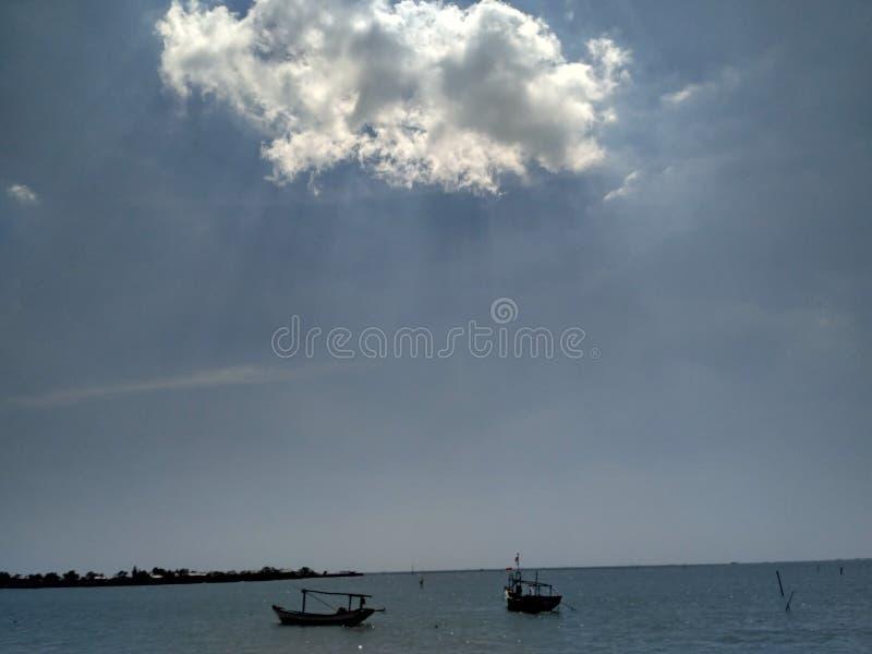 море облака стоковое фото