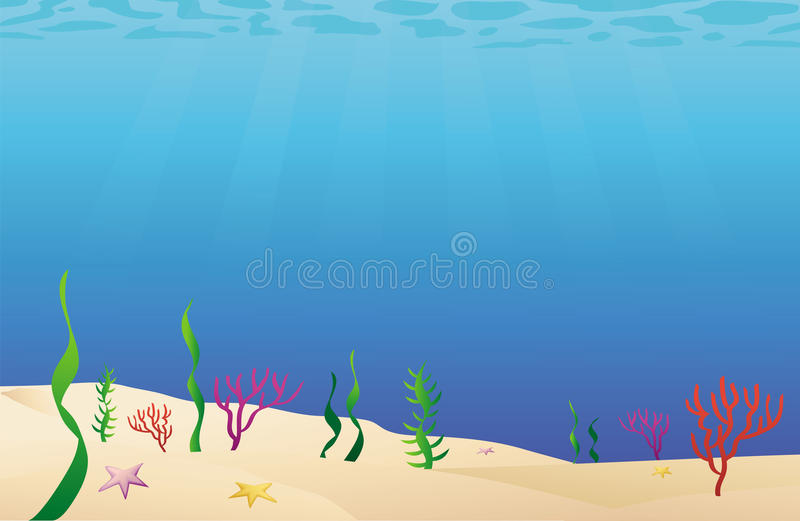 море океана пола кровати иллюстрация штока