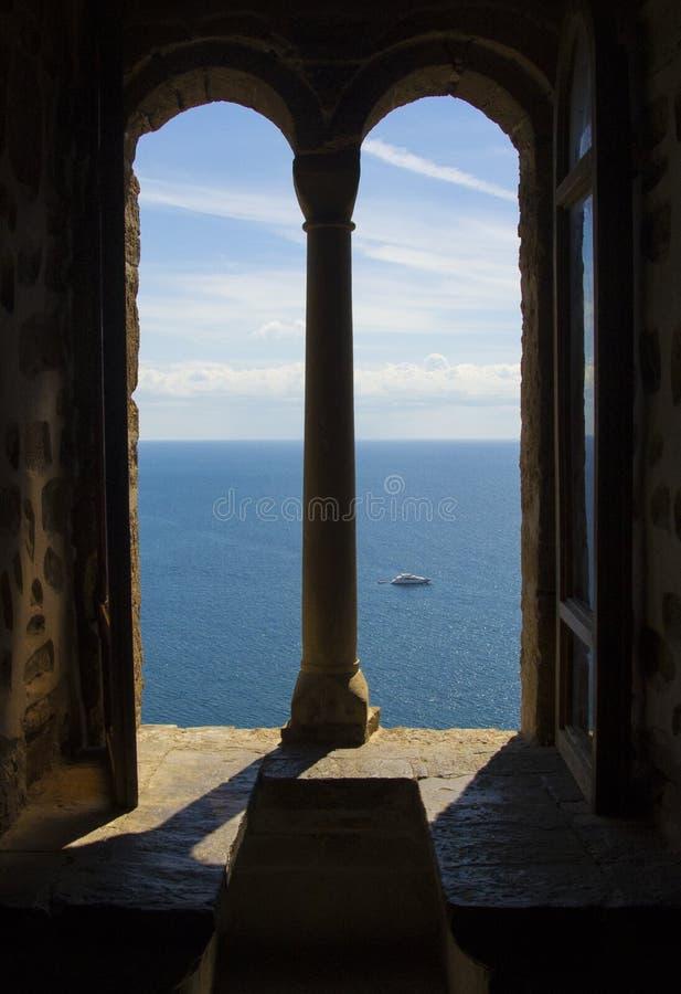 Море от крепости окна стоковое изображение rf