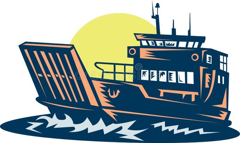 море парома шлюпки баржи бесплатная иллюстрация