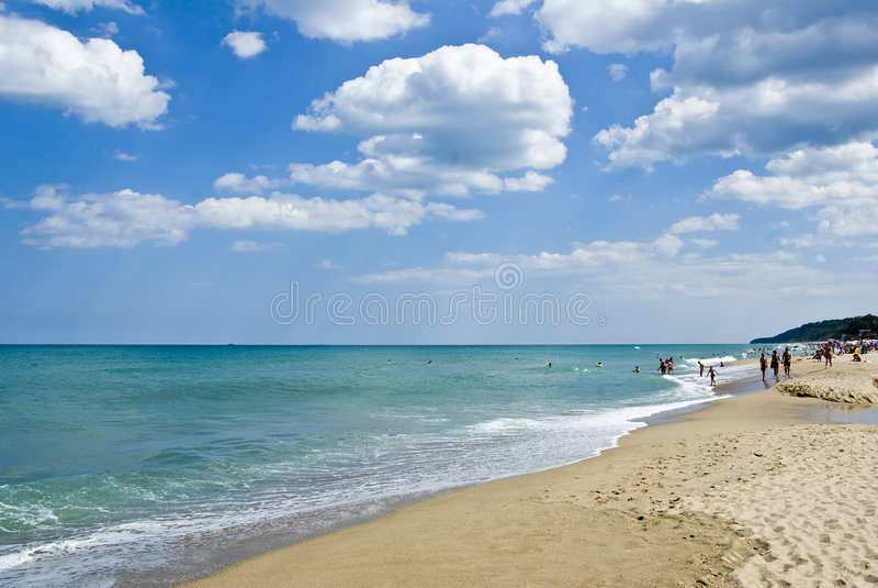 море пляжа черное стоковые изображения