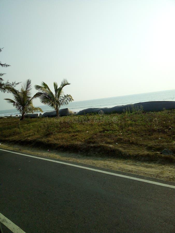 море пристани footpath пляжа к стоковая фотография rf