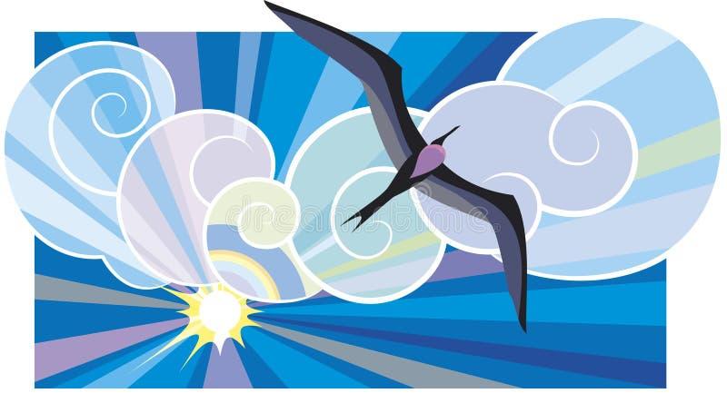 море птицы черное бесплатная иллюстрация