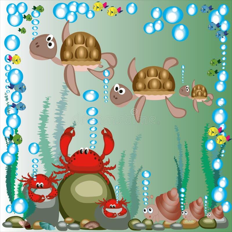 море семьи животных иллюстрация штока