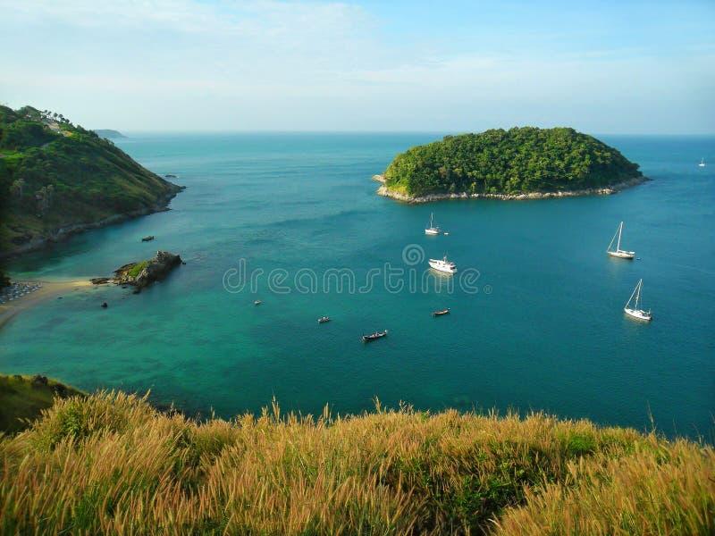 море сини утра стоковое изображение rf