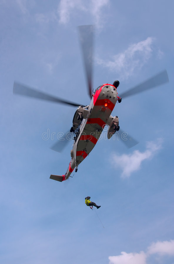 море спасения короля вертолета стоковая фотография