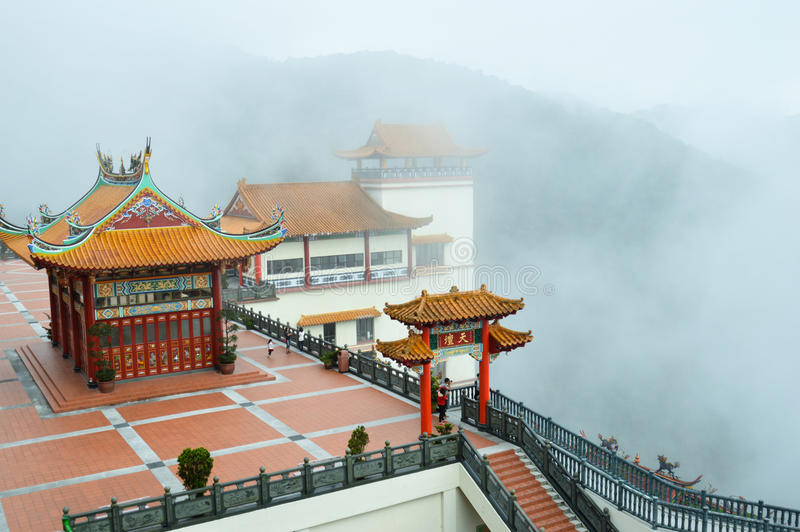 Море тумана на swee Chin выдалбливает висок, гористые местности Малайзию Genting стоковая фотография rf