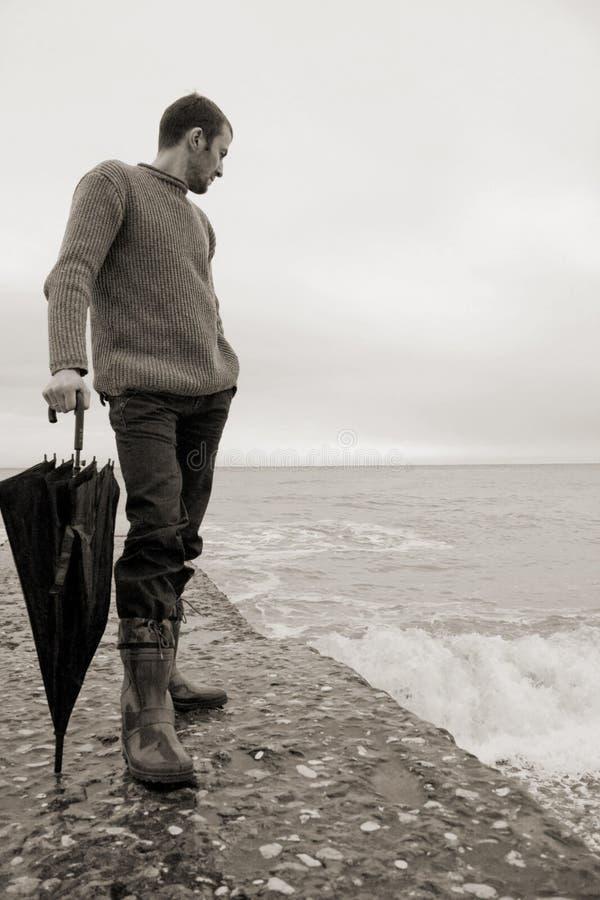 море человека стоковое фото rf