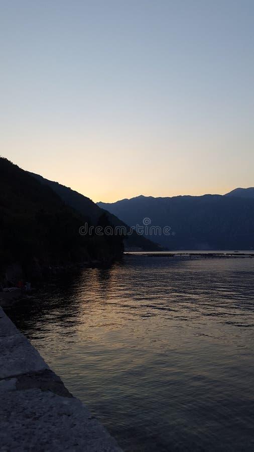 Море Черногории стоковое изображение