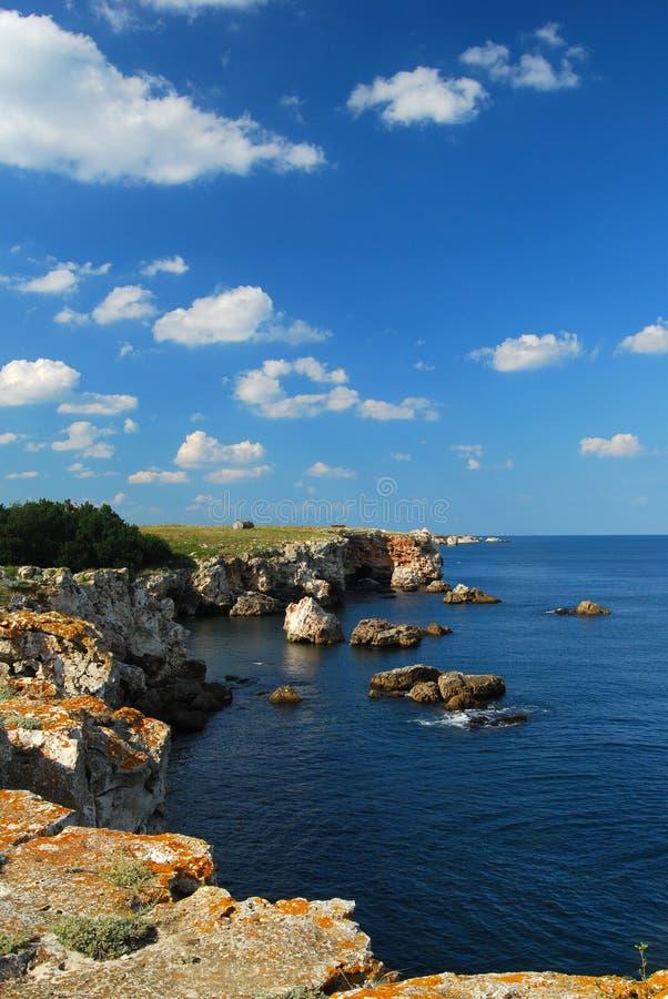 море черного свободного полета Болгарии утесистое стоковые изображения