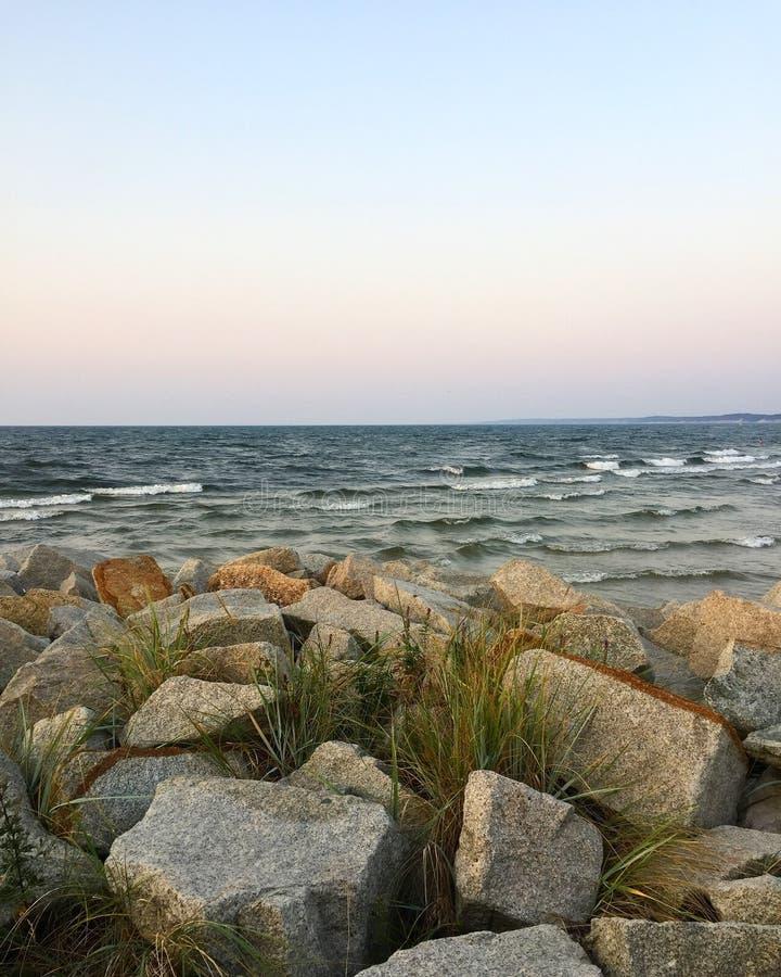 Море Baltic's в последнем месяце летом стоковое фото