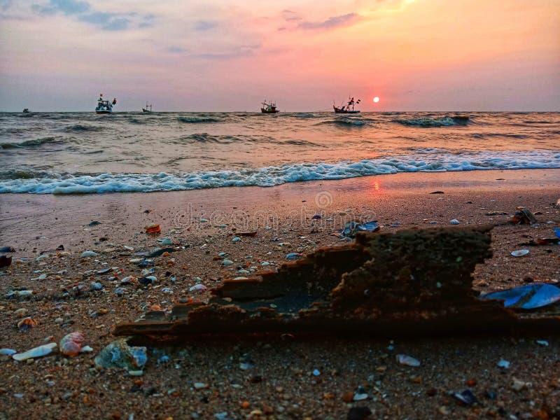 Море Bangsaen стоковые изображения rf