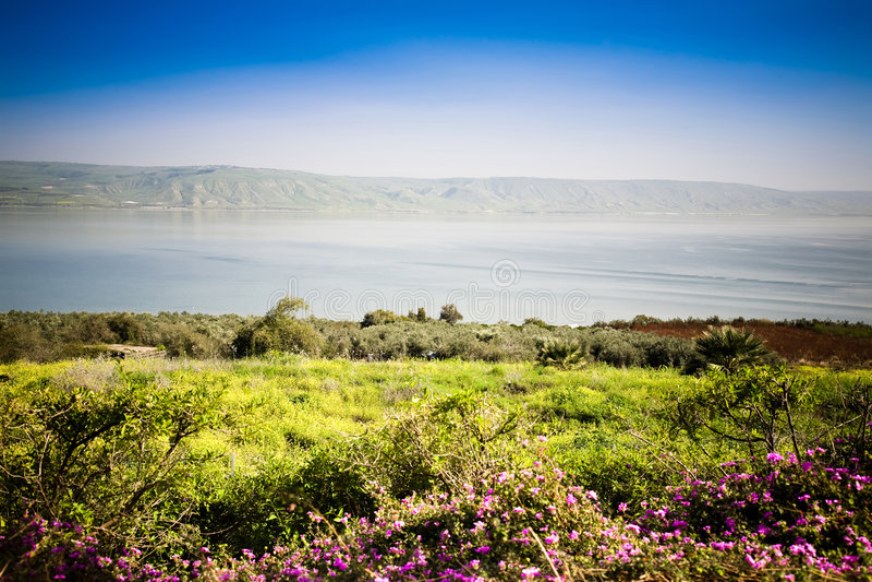 море galilee стоковая фотография