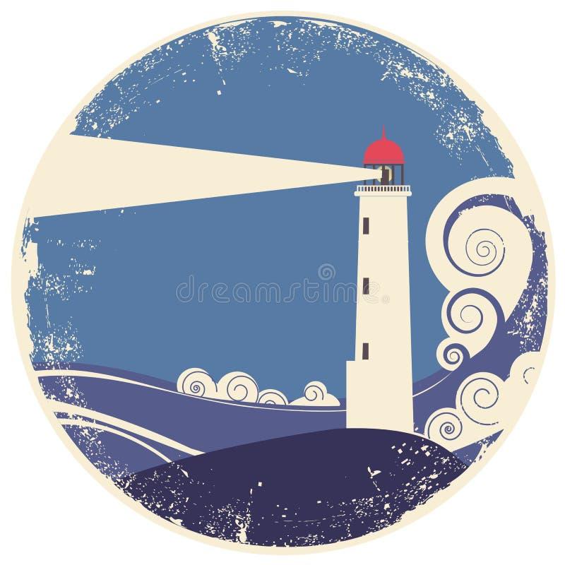 море lighhouse ландшафта иллюстрация штока
