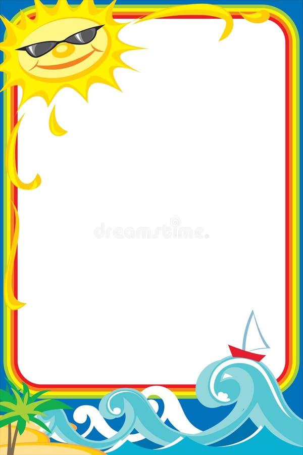 море photoframe стоковые фотографии rf