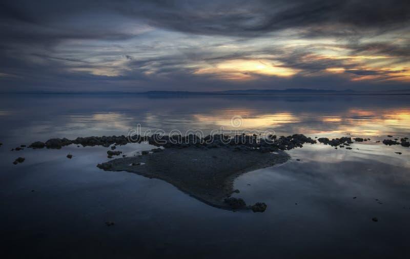 море salton стоковое фото rf