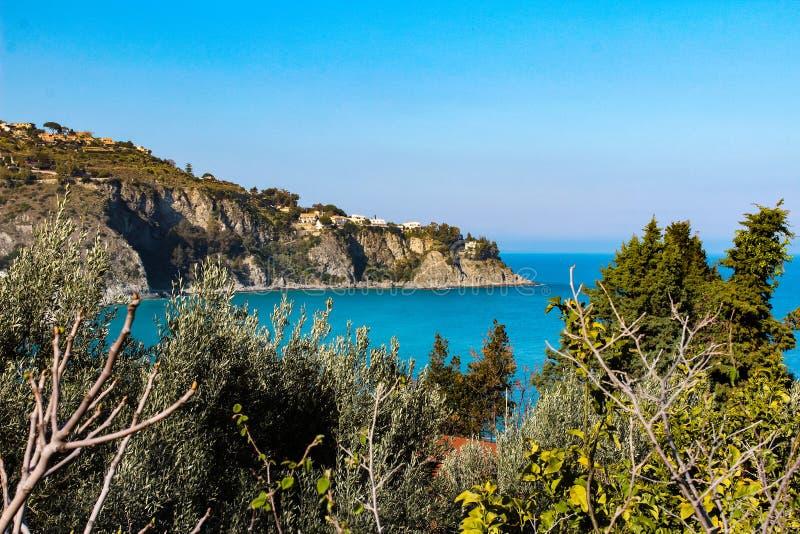 Море Scilla, Калабрии, Италии стоковая фотография