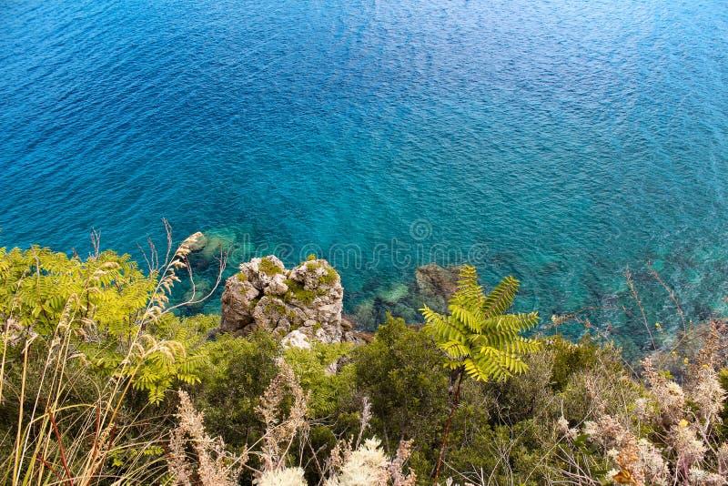 Море Scilla, Калабрии, Италии стоковая фотография rf