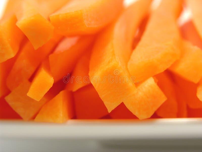 моркови покрывают белизну стоковое изображение rf
