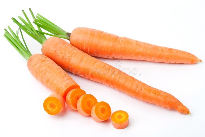 моркови предпосылки белые стоковое изображение rf