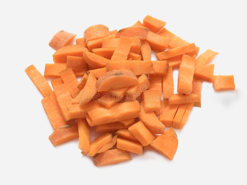 Моркови свежего овоща, отрезок в куски стоковое изображение rf
