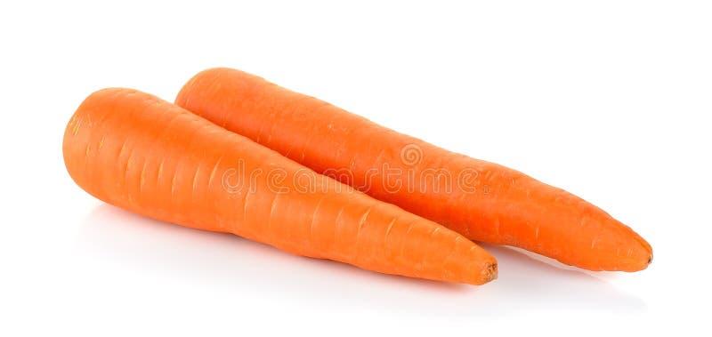 Морковь на белой предпосылке стоковая фотография rf