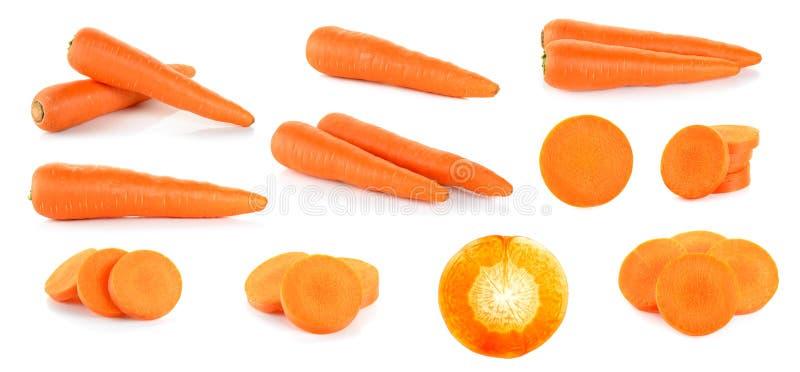 Морковь на белой предпосылке стоковое фото
