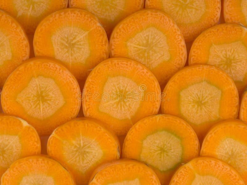 морковь отрезала стоковое изображение rf