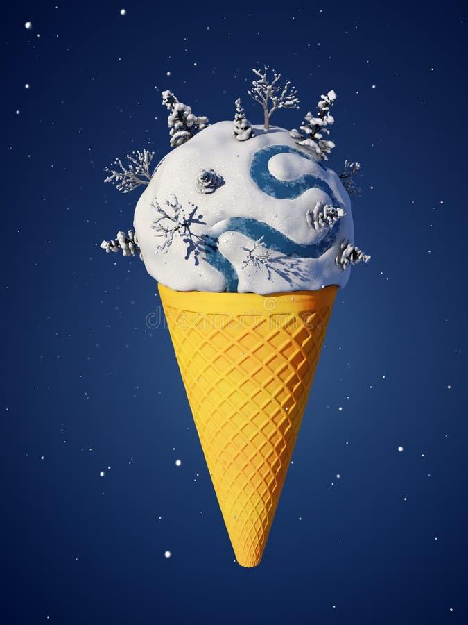 Мороженное иллюстрация штока