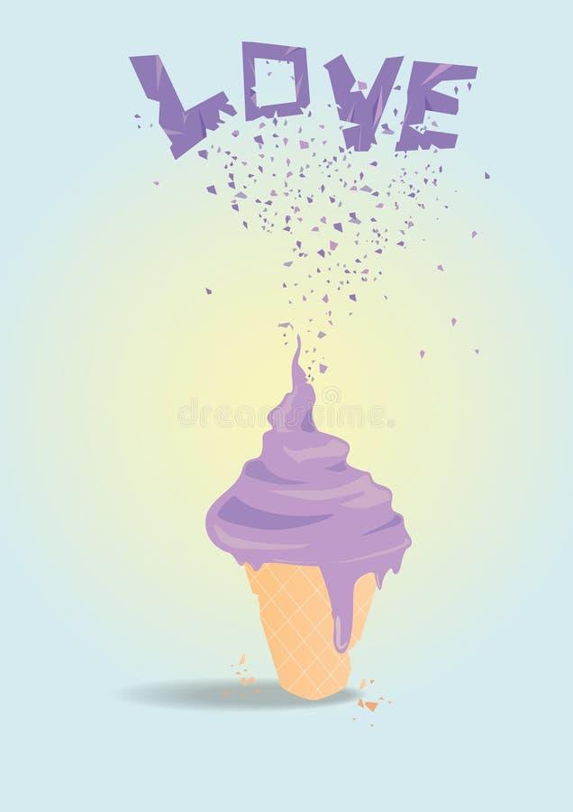 Мороженое влюбленности стоковое изображение rf