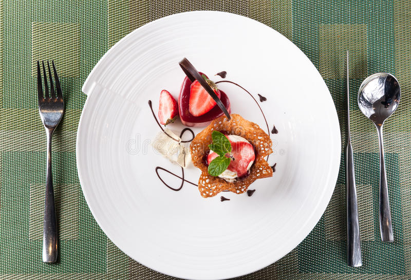 Мороженое, десерт стоковое изображение rf