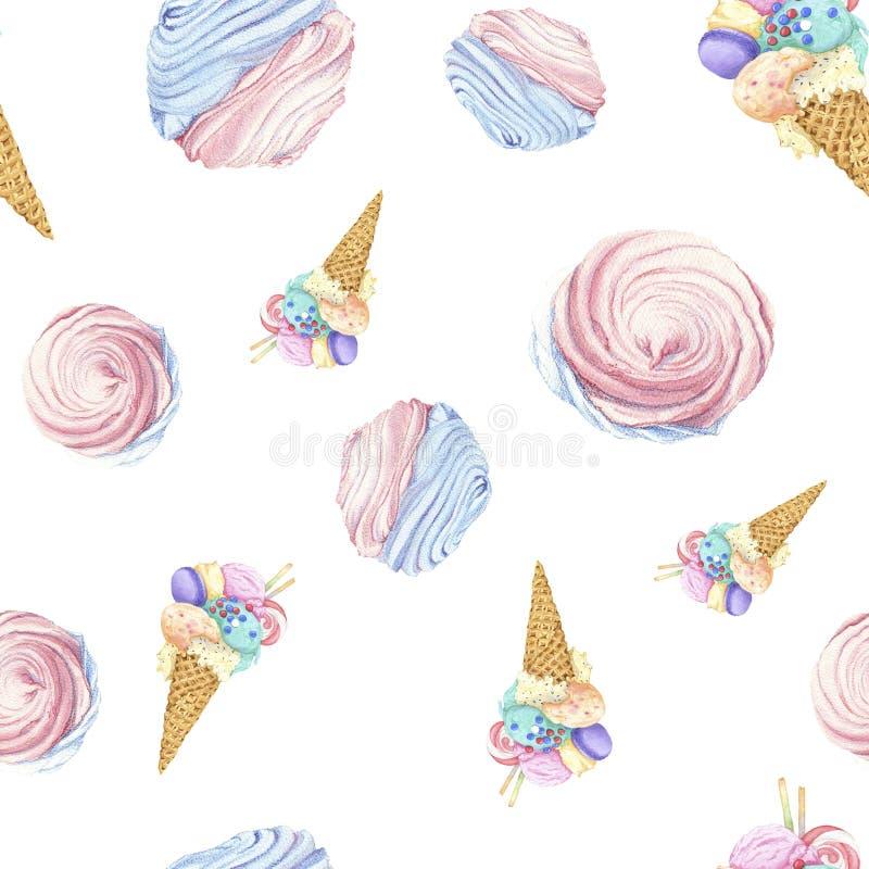 Мороженое и зефир стоковые изображения rf
