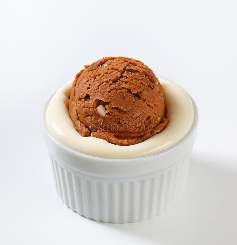 Мороженое и пудинг стоковое изображение rf