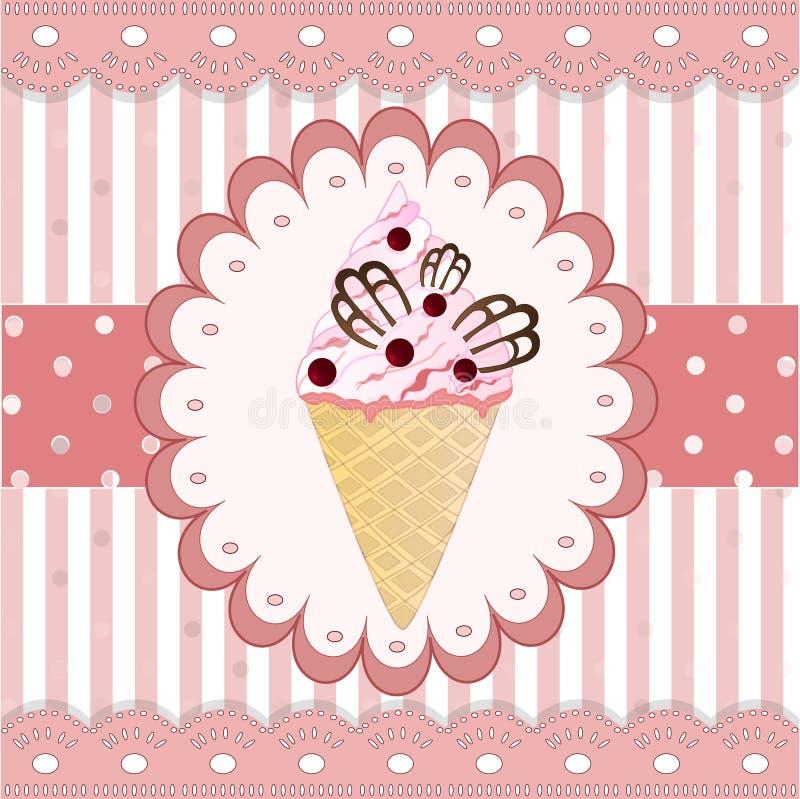 Мороженое клюкв на белой предпосылке иллюстрация вектора