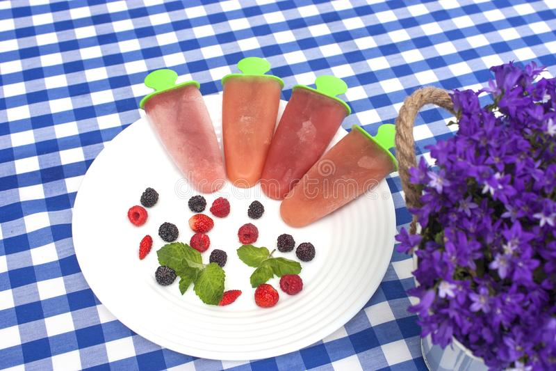 Мороженое плодоовощ стоковые изображения