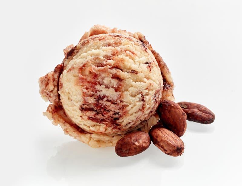 Мороженое с какао стоковые изображения