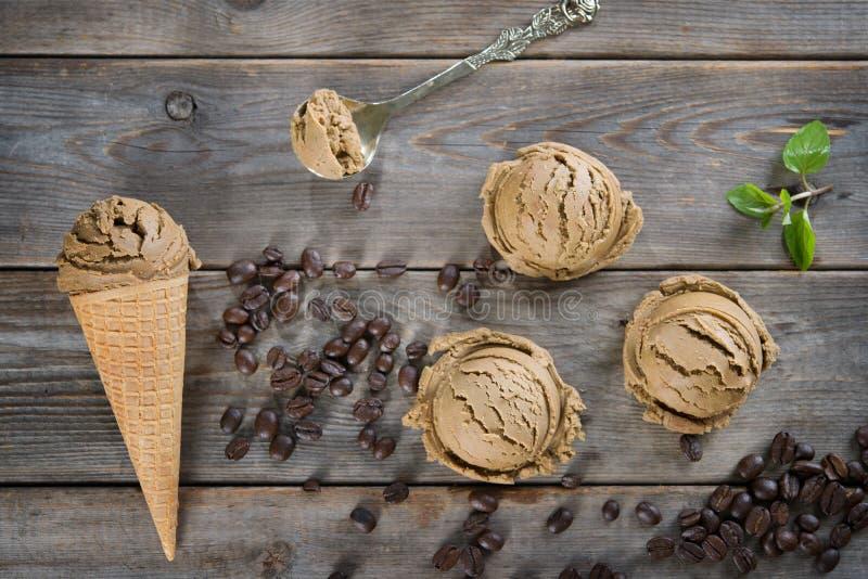 Мороженое mocha взгляд сверху стоковые фото