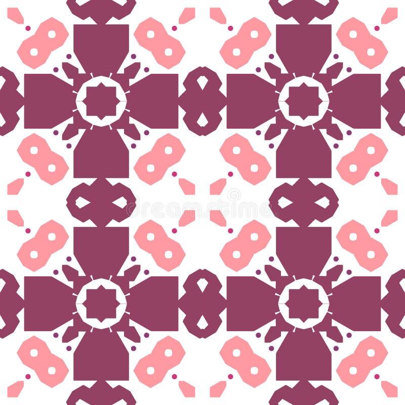 Морокканская плитка - безшовный орнамент иллюстрация вектора