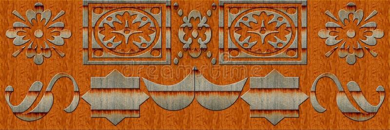 Морокканские плитки, орнаменты, случайные плитки дизайн стены или покрашенная Брауном стена кроют оформление черепицей для домашн стоковая фотография rf