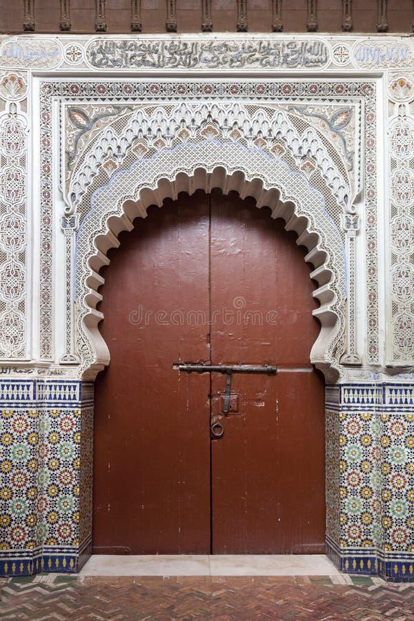 Морокканский вход в Marrakesh стоковые изображения rf