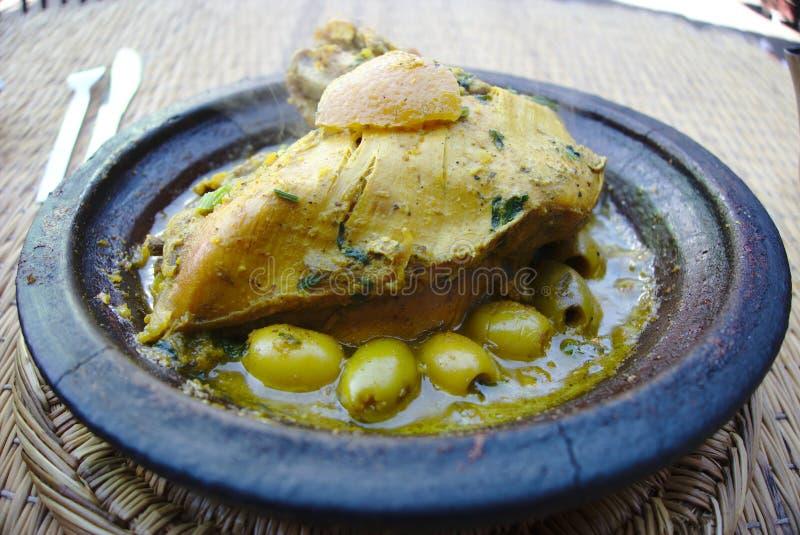 Морокканский цыпленок Tagine стоковые фотографии rf