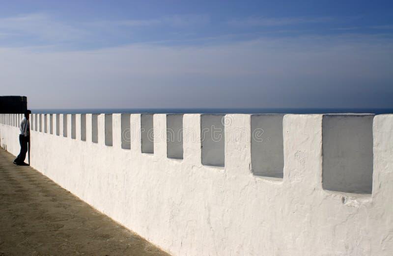 морская дамба Марокко asilah стоковая фотография rf