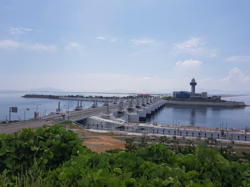 морская дамба saemangeum стоковое фото rf