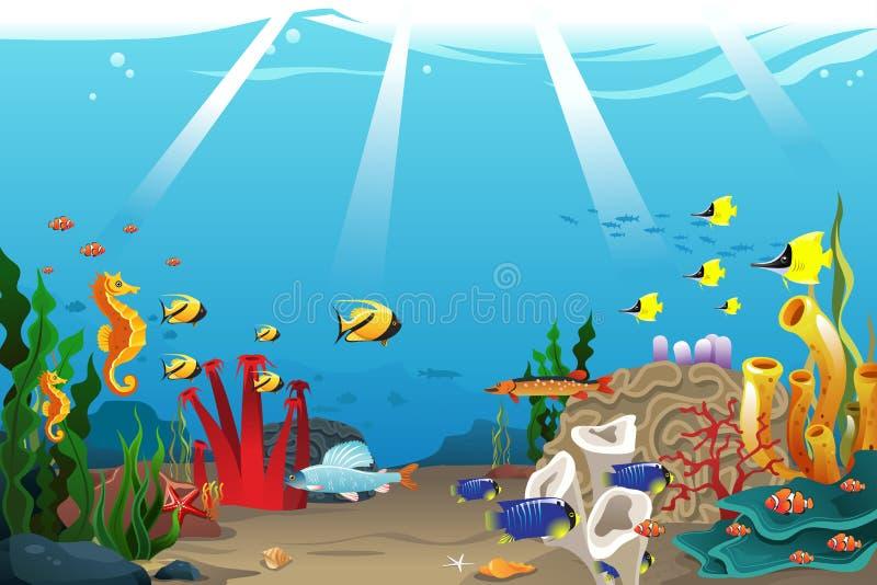 Морская жизнь иллюстрация вектора