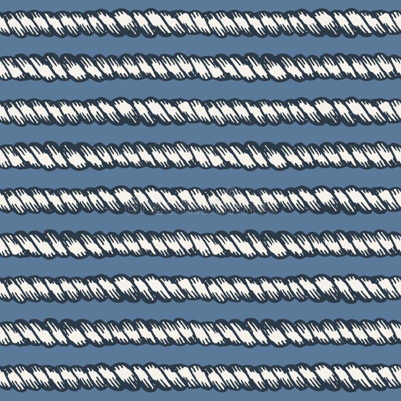 Морская линия безшовная картина веревочки бесплатная иллюстрация