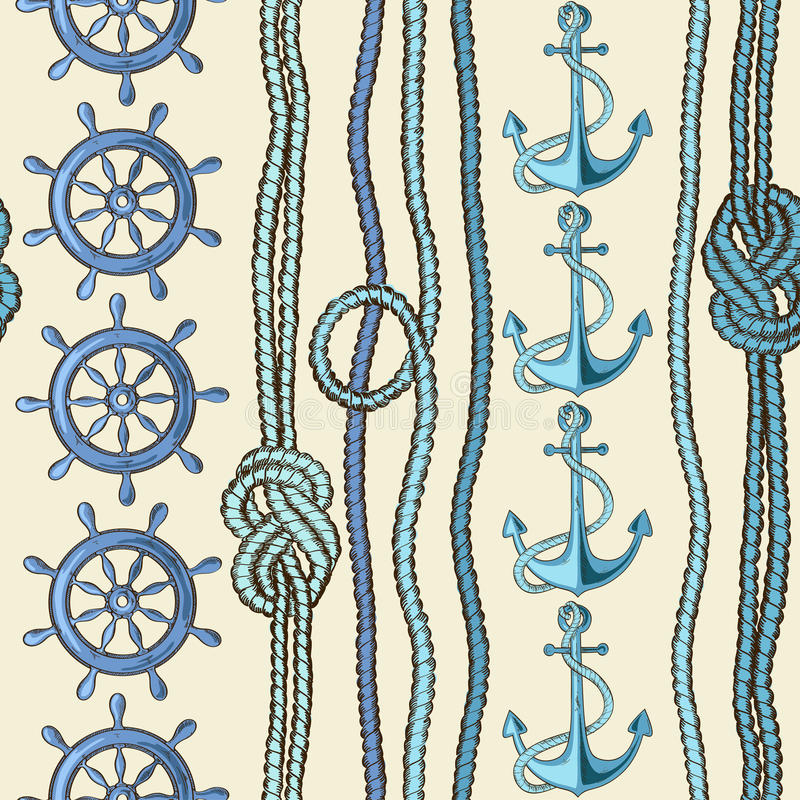 морская картина безшовная иллюстрация штока