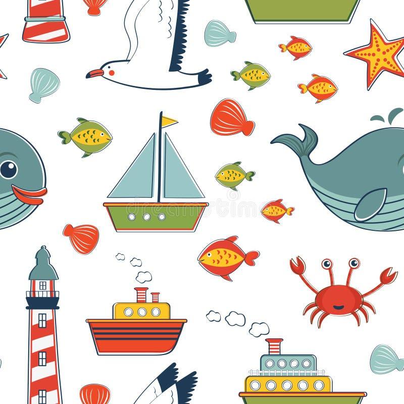 Морская картина иллюстрация штока