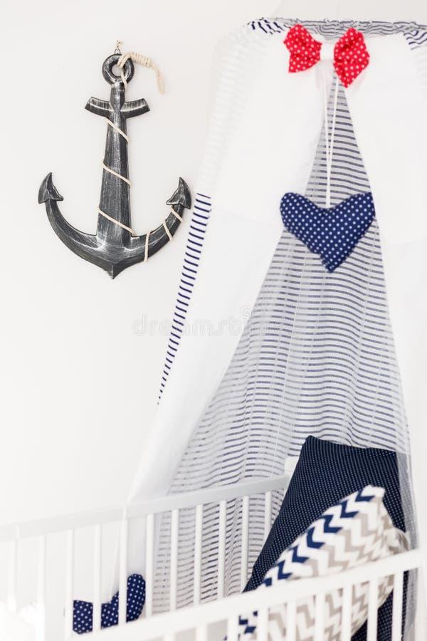 Морская кроватка младенца стиля стоковые фото